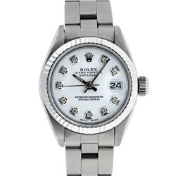 Rolex Stainless Steel MOP Oyster Band DateJust Ladies Watch