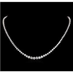 18KT White Gold 7.29 ctw Diamond Necklace