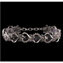 1.42 ctw Diamond Bracelet - 14KT White Gold