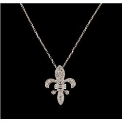 0.21 ctw Diamond Pendant With Chain - 14KT White Gold