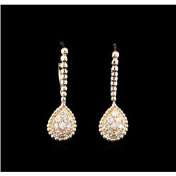 0.33 ctw Diamond Earrings - 14KT Rose Gold