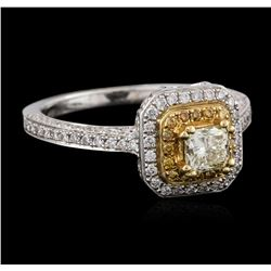 18KT Two-Tone Gold 0.89 ctw Diamond Ring