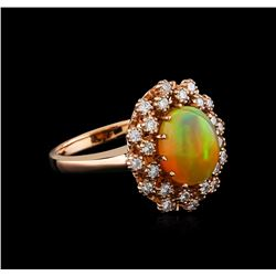 2.78 ctw Opal and Diamond Ring - 14KT Rose Gold
