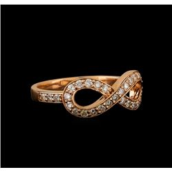 14KT Rose Gold 0.37 ctw Diamond Ring