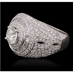 18KT White Gold 2.97 ctw Diamond Ring