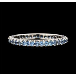 1.00 ctw Aquamarine Ring - 14KT White Gold
