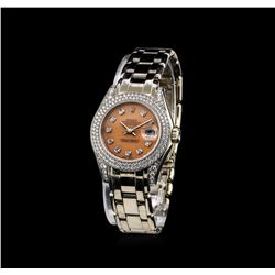 Rolex 18KT White Gold 1.44 ctw Diamond Masterpiece DateJust Ladies Watch