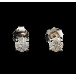 14KT White Gold 0.68 ctw Diamond Stud Earrings