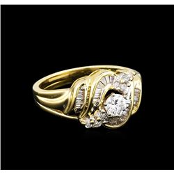 0.99 ctw Diamond Ring - 14KT Yellow Gold