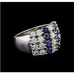 1.16 ctw Sapphire and Diamond Ring - 14KT White Gold