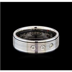 0.12 ctw Diamond Band - 14KT White Gold