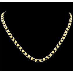 Necklace - 18KT Yellow and White Gold