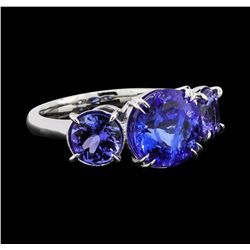 4.26 ctw Tanzanite and Diamond Ring - Platinum
