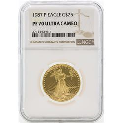 1987-P PF70 Ultra Cameo $25 Gold Eagle