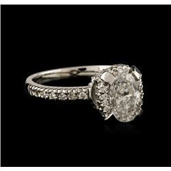 18KT White Gold 1.29 ctw Diamond Ring