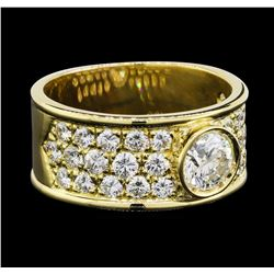 2.66 ctw Diamond Ring - 18KT Yellow Gold