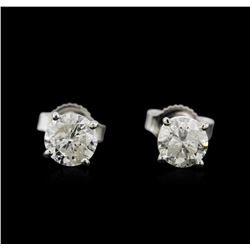 1.27 ctw Diamond Stud Earrings - 14KT White Gold