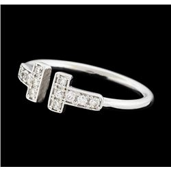 0.21 ctw Diamond Ring - 14KT White Gold