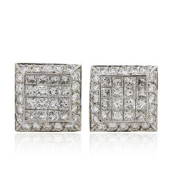 14KT White Gold 2.19 ctw Diamond Earrings