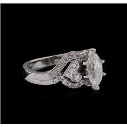 GIA Cert 2.41 ctw Diamond Ring - 18KT White Gold