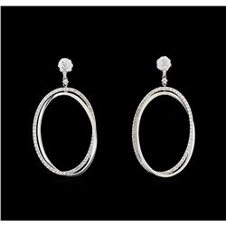 14KT White Gold 1.16 ctw Diamond Earrings