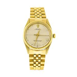 Rolex 14-18KT Yellow Gold Oyster Perpetual Watch
