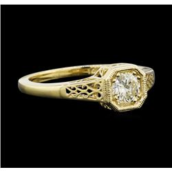0.50 ctw Diamond Ring - 14KT Yellow Gold