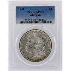 1921 PCGS MS63 Morgan Silver Dollar