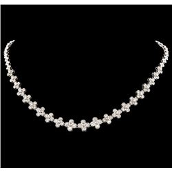 2.32 ctw Diamond Necklace - 14KT White Gold