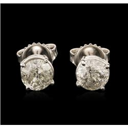 14KT White Gold 1.63 ctw Diamond Stud Earrings
