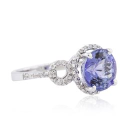 14KT White Gold 3.51 ctw Tanzanite and Diamond Ring