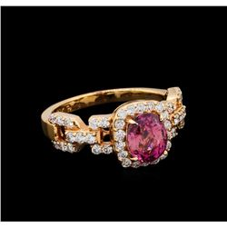 1.93 ctw Padparadscha and Diamond Ring - 18KT Rose Gold