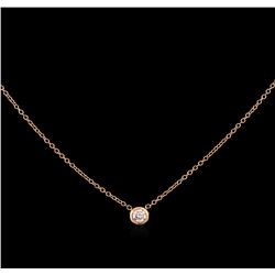 0.09 ctw Diamond Necklace - 14KT Rose Gold