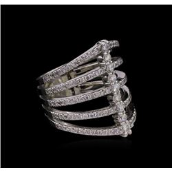 1.17 ctw Diamond Ring - 14KT White Gold
