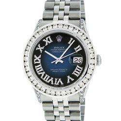 Rolex Stainless Steel 3.50 ctw Diamond DateJust Men's Watch