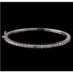 14KT White Gold 1.93 ctw Diamond Bangle Bracelet