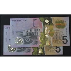 $5 Notes new Issue Consecutive Pair