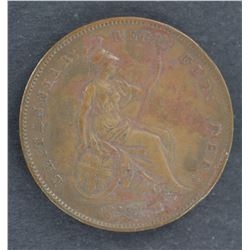GB 1858 Penny Brown Unc