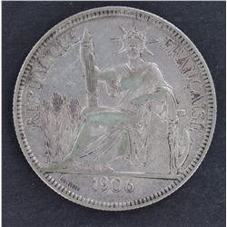 French Indo China 1 piastre 1900 gVF