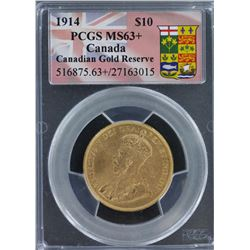 1914 $10 Canadian MS 63 Plus