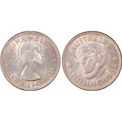 1954 Shilling MS 64