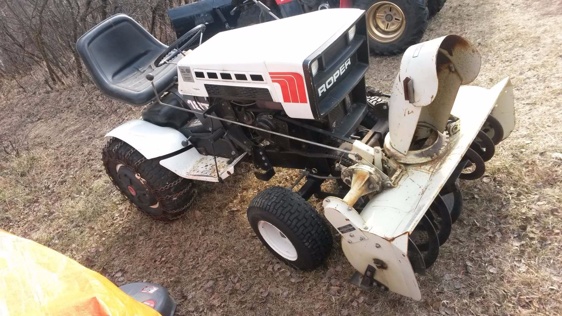 Old Roper Lawn Tractor Wiring Schematics Diagrams Diagram For Mower 18t Riding With Snow Blower Attachment Running Rh Icollector Com Sears Garden