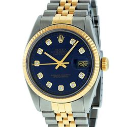 Rolex 18KT Two Tone Gold Datejust Mens Wristwatch