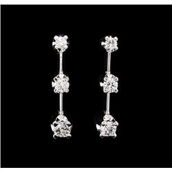 14KT White Gold 0.50ctw Diamond Dangle Earrings