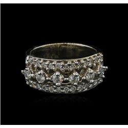 14KT White Gold 0.90ctw Diamond Ring