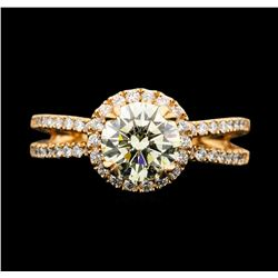 14KT Rose Gold 1.85ctw Diamond Ring