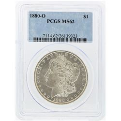 1880-O $1 Morgan Silver Dollar PCGS Graded MS62