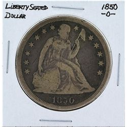 1850-O $1 Liberty Seated Dollar Coin