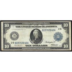 1914 $10 Federal Reserve Note New York