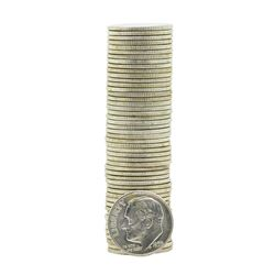Roll of (50) 1955-P Brilliant Uncirculated Roosevelt Dimes